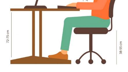 altura mesa de trabajo